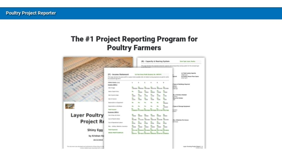 Poultry Project Reporter 2.0