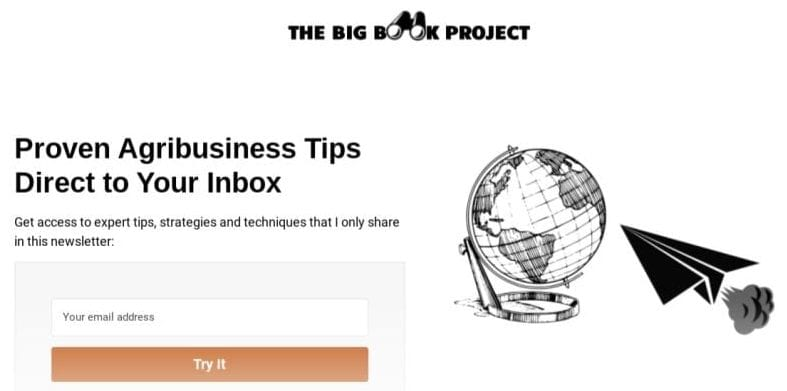 The Big Book Project Agribusiness and Poultry Email Newsletter