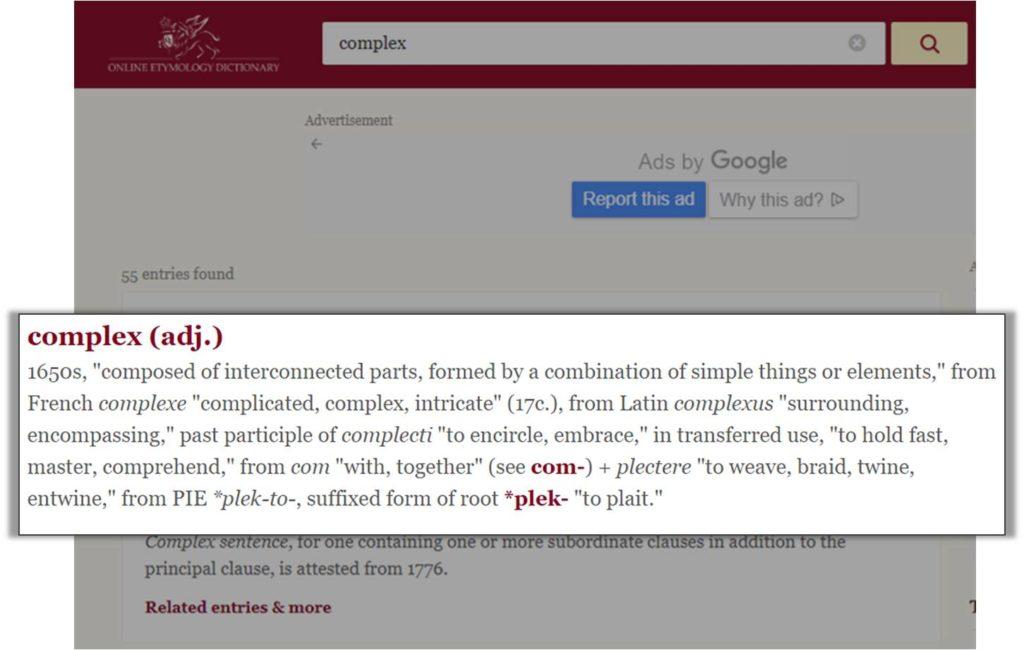 Complex etymology