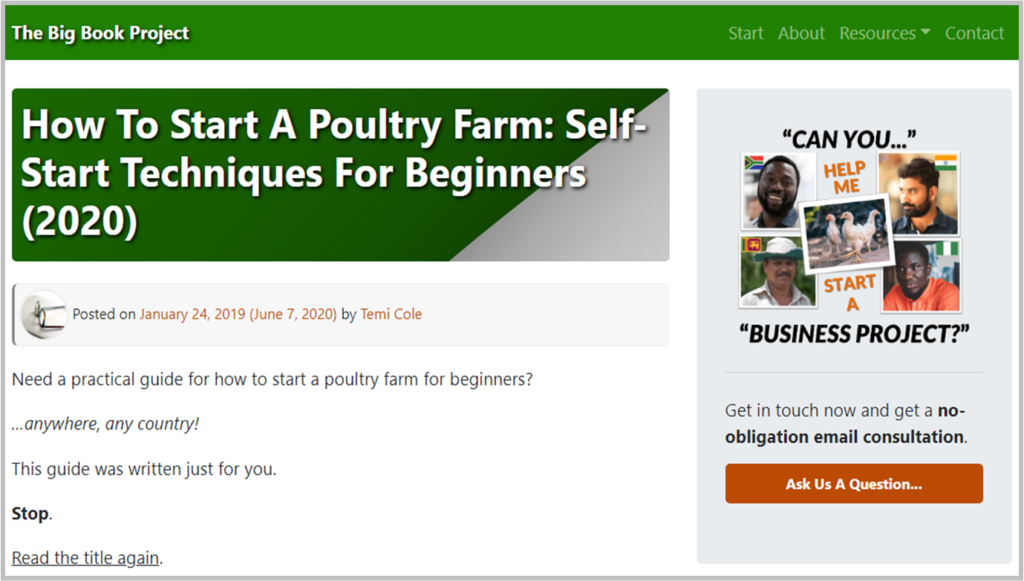 How to start a poultry farm - The Big Book Project
