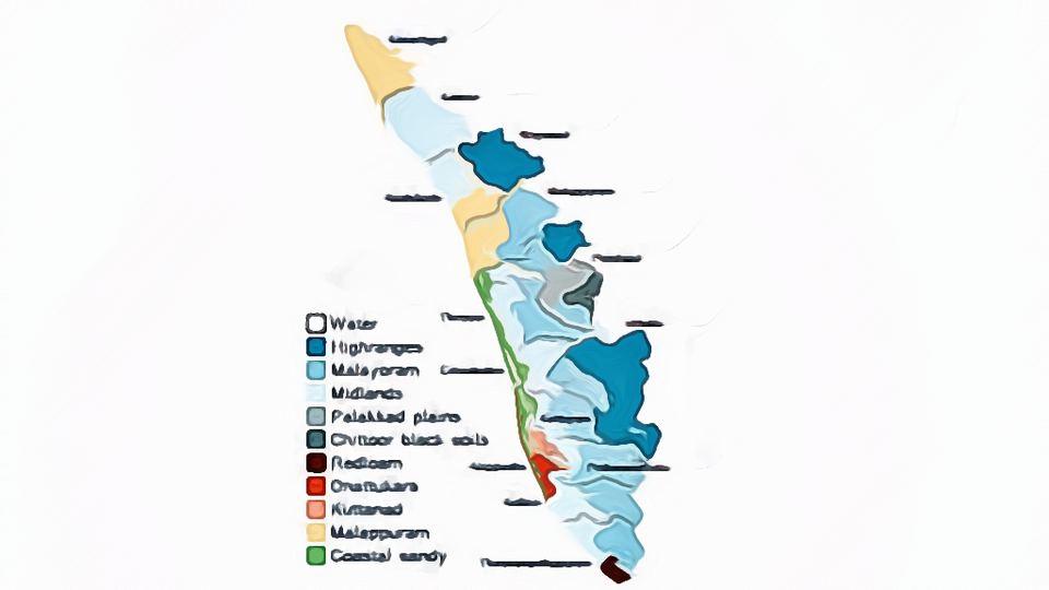 Poultry Farm Location Map of Kerala India
