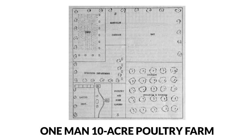 One Man 10-Acre Poultry Farm Plans