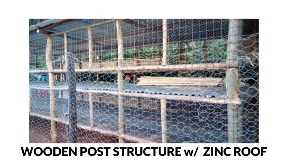 Wooden Post Structure Poultry house Photo