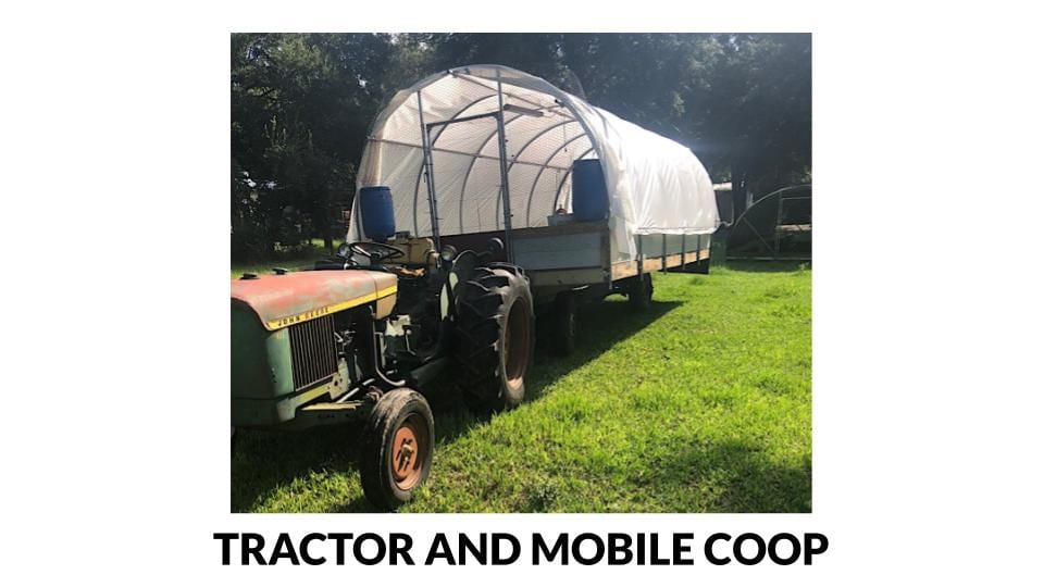 Tractor pulled mobile coop