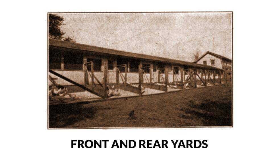 Front And Rear Concrete Poultry House Yards